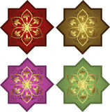 Traditional ottoman turkish tile illustration Stock Images