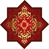 Traditional ottoman turkish tile illustration Stock Photo