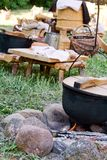Traditional outdoor kitchen Stock Images