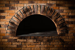 A traditional oven for cooking and baking pizza. Stock Image