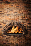 A traditional oven for cooking and baking pizza. Royalty Free Stock Image