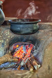 Traditional oven on a rural kitchen Stock Image