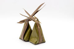 Traditional packaging thai style with banana leaf Royalty Free Stock Photography