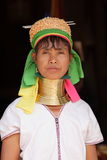Traditional Padaung woman from Myanmar Stock Photo