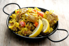 Traditional paella rice from spain Stock Images