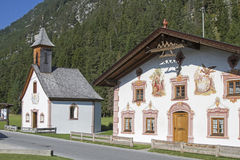 Traditional painted buildings in Tirol Royalty Free Stock Photos