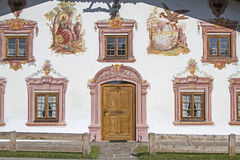 Traditional painted buildings in Tirol Stock Photography