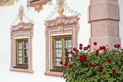 Traditional painted buildings in Tirol Royalty Free Stock Photo