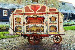 Traditional painted cart in Zaanse Schans, Holland stock photo