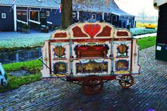 Traditional painted cart in Zaanse Schans Village, Holland Royalty Free Stock Photo