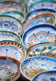 Traditional painted ceramics stock photography