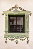 Traditional painted decoration around a window Royalty Free Stock Images