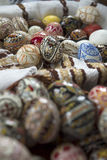 Traditional painted Easter egg from Bucovina, Romania. royalty free stock photography
