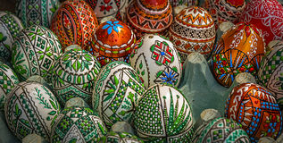 Traditional painted Easter eggs Stock Photo