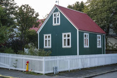 Traditional painted houses homes in central reykjavik iceland ci Royalty Free Stock Images