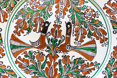 Traditional painted pottery Royalty Free Stock Images