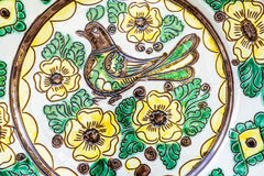Traditional painted pottery Stock Photo