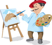 Traditional painter Stock Photos