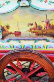 Traditional painting on wood in Zaanse Schans Village, Holland Royalty Free Stock Photo