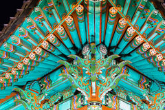 Traditional paintwork on wooden buildings, dancheong Stock Photography