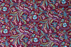 Traditional paisley pattern cashmere pashmina sample Royalty Free Stock Images