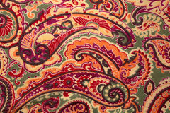 Traditional paisley pattern silk background Royalty Free Stock Image