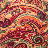 Traditional paisley pattern silk background Royalty Free Stock Photos