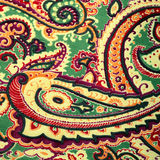 Traditional paisley pattern silk background Stock Photography