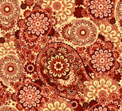 Traditional paisley pattern silk headscarf sample. Eastern cloth presents and gifts concept Stock Images