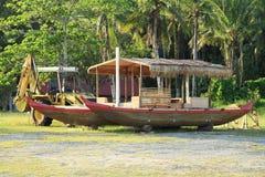 Traditional Palauan boat Stock Image