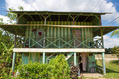 Traditional palm worker house in Costa rica Stock Image