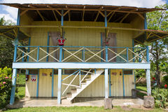 Traditional palm worker house in Costa rica Royalty Free Stock Photography