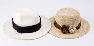 Traditional panama hats from Ecuador Stock Photography