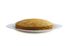 Traditional pancakes - russian blini Royalty Free Stock Image