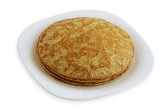 Traditional pancakes - russian blini Stock Images