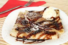 Traditional Pancakes With Chocolate Royalty Free Stock Photo