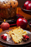 Traditional panettone cake for Christmas Royalty Free Stock Photography
