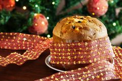 Panettone italian christmas cake Royalty Free Stock Image