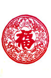 The Traditional Paper Cut. Chinese new year sign-bless Royalty Free Stock Photo