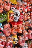 Traditional paper masks for New Year celebration Royalty Free Stock Photography