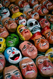 Traditional paper masks for New Year celebration Royalty Free Stock Images