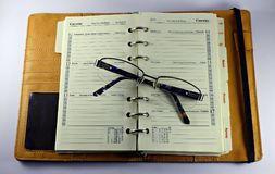A traditional paper organizer royalty free stock photos