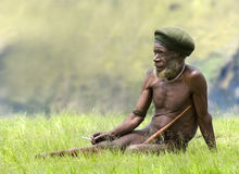 Traditional papua man Stock Image