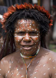 A traditional papua woman Royalty Free Stock Photos