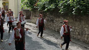 Traditional parade of Alka game in Sinj stock video footage
