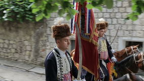 Traditional parade of Alka game in Sinj stock footage