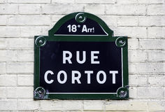 Traditional Paris plaque with street name Stock Photography