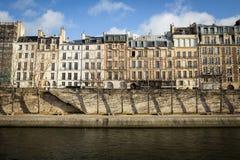 Traditional Parisian apartment buildings Stock Photos