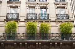Traditional Parisian building Royalty Free Stock Photo