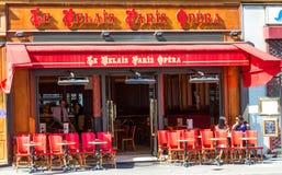 The traditional Parisian cafe Relais Paris Opera, France. Stock Image